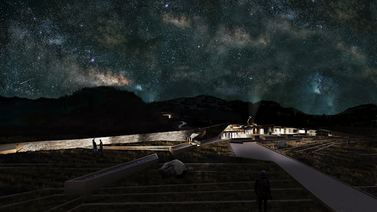 Proyecto de Título Nadim Becerra / <q>Termas Lodge Valle de Colina</q>:  de estilo  por NB Render Arquitectura