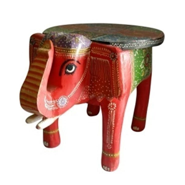 Elephant Table: asian Living room by Alyth Creations