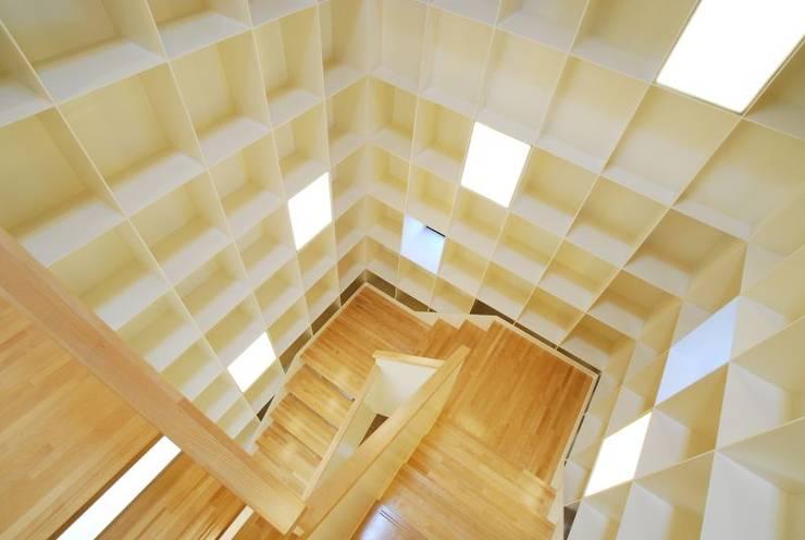 階段収納: 有限会社 橋本設計室が手掛けた廊下 & 玄関です。