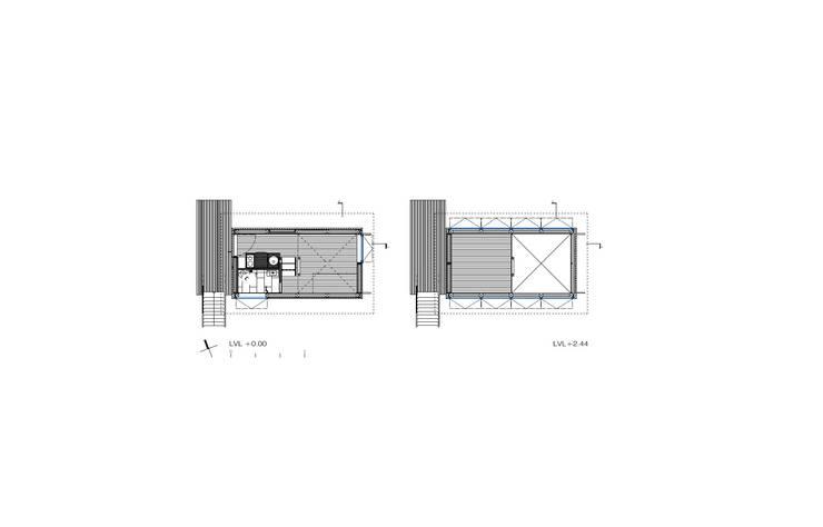 Charred Cabin:  de estilo  por DRAA