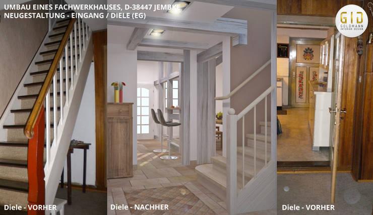 """Fachwerkhaus Jembke - Eingang / Diele: {:asian=>""""asiatisch"""", :classic=>""""klassisch"""", :colonial=>""""kolonial"""", :country=>""""landhausstil"""", :eclectic=>""""eklektisch"""", :industrial=>""""industriell"""", :mediterranean=>""""mediterrane"""", :minimalist=>""""minimalistisch"""", :modern=>""""modern"""", :rustic=>""""rustikal"""", :scandinavian=>""""skandinavisch"""", :tropical=>""""tropisch""""}  von GID│GOLDMANN-INTERIOR-DESIGN - Innenarchitekt in Sehnde,"""