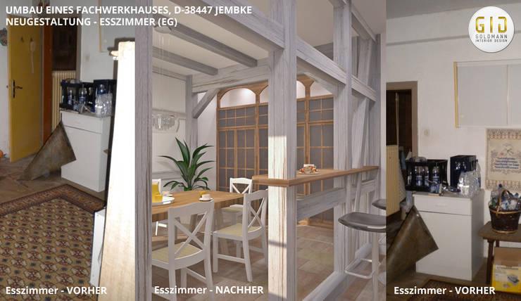 """Fachwerkhaus Jembke - Esszimmer: {:asian=>""""asiatisch"""", :classic=>""""klassisch"""", :colonial=>""""kolonial"""", :country=>""""landhausstil"""", :eclectic=>""""eklektisch"""", :industrial=>""""industriell"""", :mediterranean=>""""mediterrane"""", :minimalist=>""""minimalistisch"""", :modern=>""""modern"""", :rustic=>""""rustikal"""", :scandinavian=>""""skandinavisch"""", :tropical=>""""tropisch""""}  von GID│GOLDMANN-INTERIOR-DESIGN - Innenarchitekt in Sehnde,"""