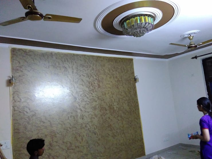 Interior painting:  Walls by Abdul Bros