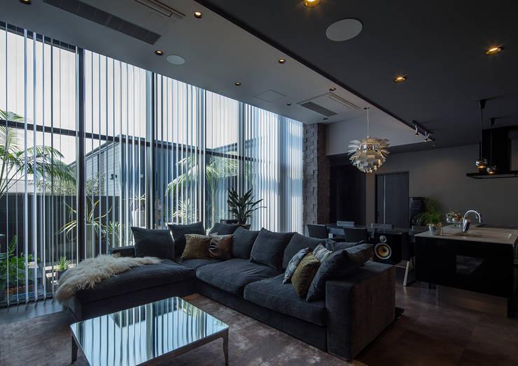Salas de estar modernas por 一級建築士事務所  馬場建築設計事務所