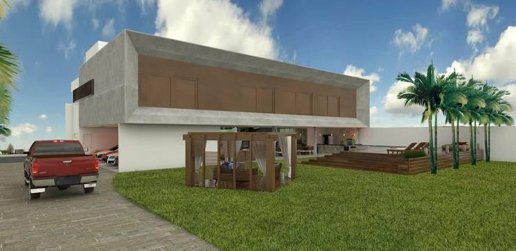 Casas modernas por THAYANA NIEBISCH ARQUITETURA E INTERIORES