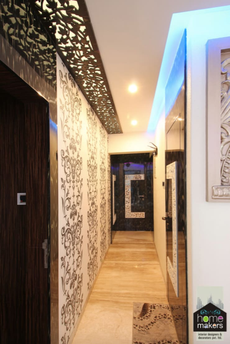 Second Passage:  Corridor & hallway by home makers interior designers & decorators pvt. ltd.