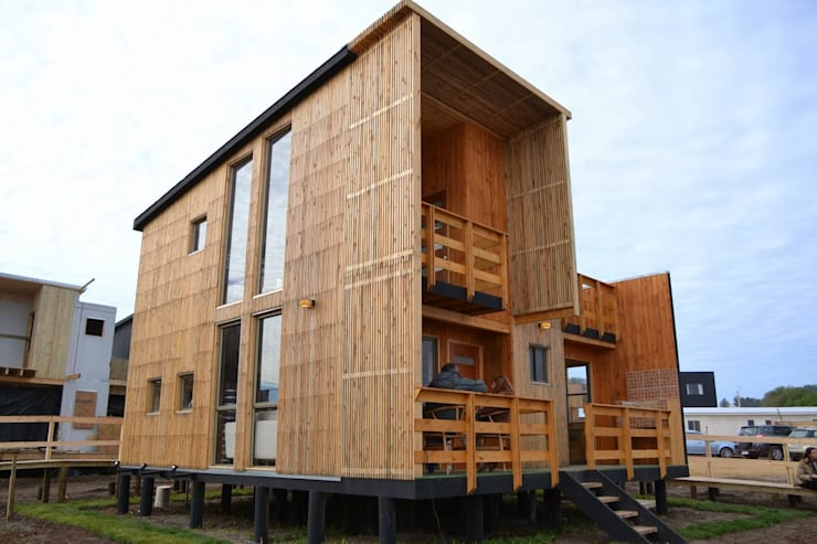 Cabaña Loft San Antonio: Casas de estilo  por EstradaMassera Arquitectura