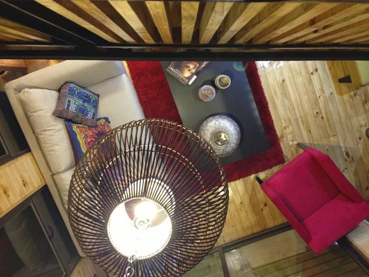 Cabaña Loft San Antonio: Terrazas  de estilo  por EstradaMassera Arquitectura