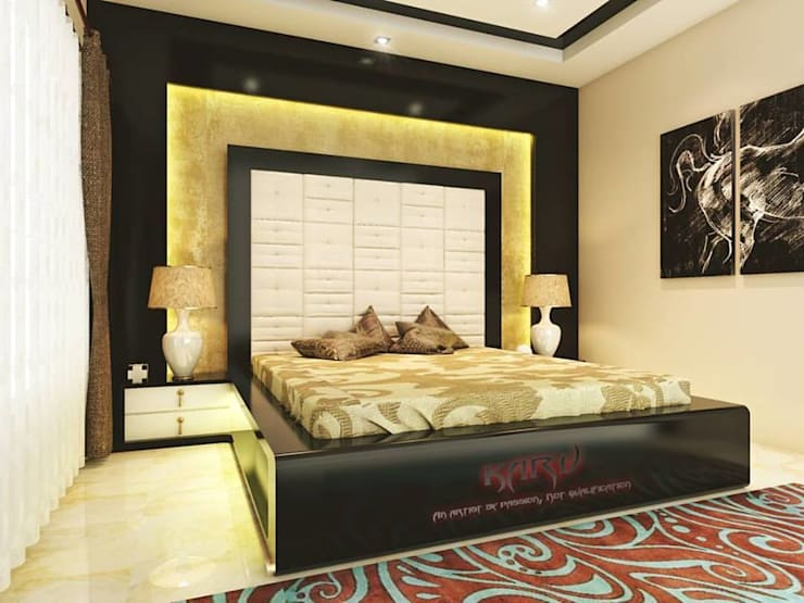 BEDROOM:  Bedroom by KARU AN ARTIST