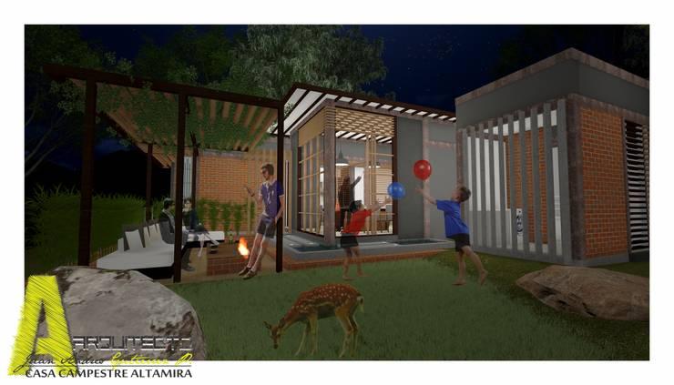 CASA ALTAMIRA: Casas de estilo  por ARQUITECTO JUAN ANDRES GUTIERREZ PEREZ,