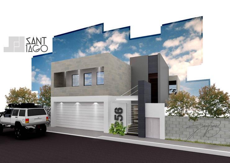J-Gles: Casas de estilo  por SANT1AGO arquitectura y diseño