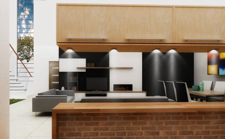J-Gles: Cocinas de estilo  por SANT1AGO arquitectura y diseño