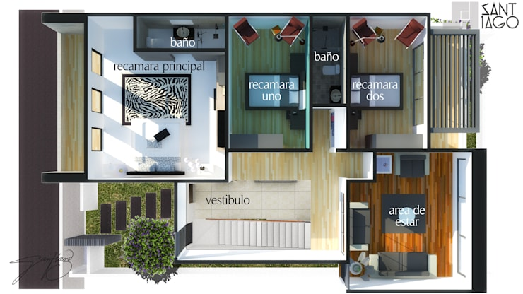 J-Gles:  de estilo  por SANT1AGO arquitectura y diseño