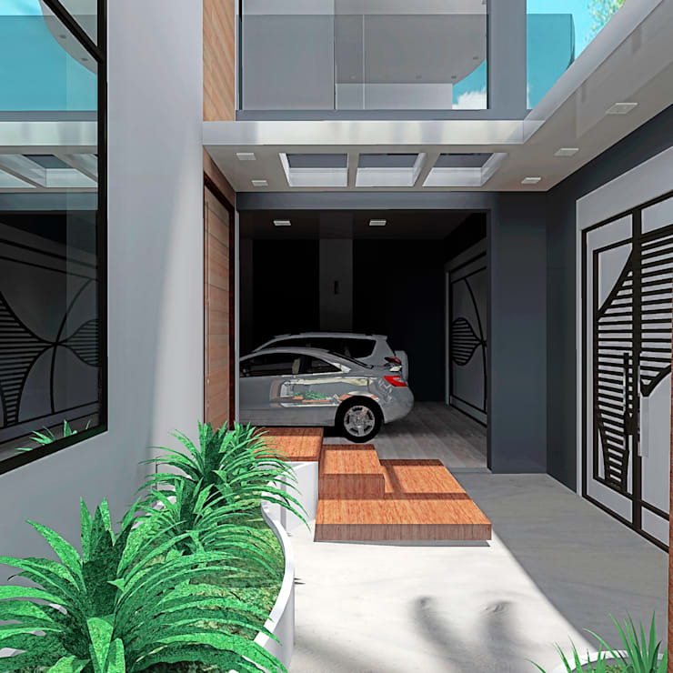 Entrada Principal: Casas modernas por alessandra_arquiteta