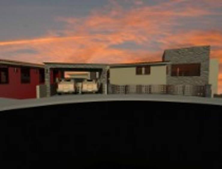 Rancho San Juan Zona Esmeralda: Garajes de estilo  por CESAR MONCADA S