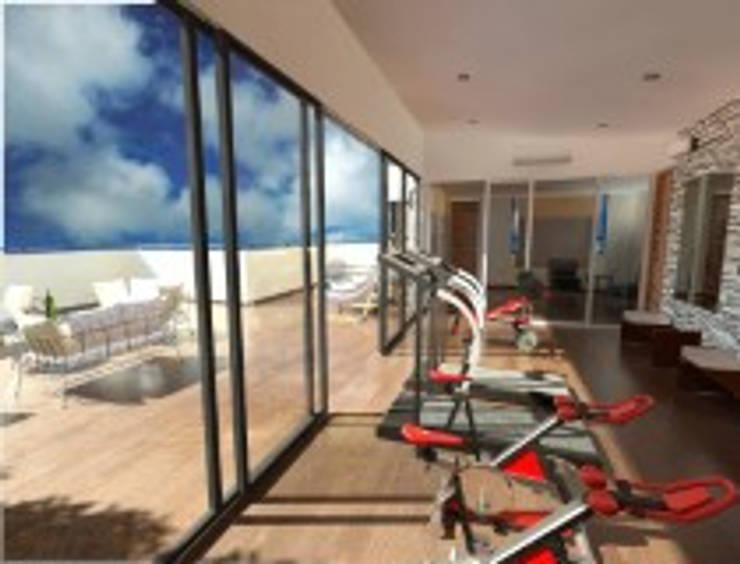 Rancho San Juan Zona Esmeralda: Gimnasios de estilo  por CESAR MONCADA S