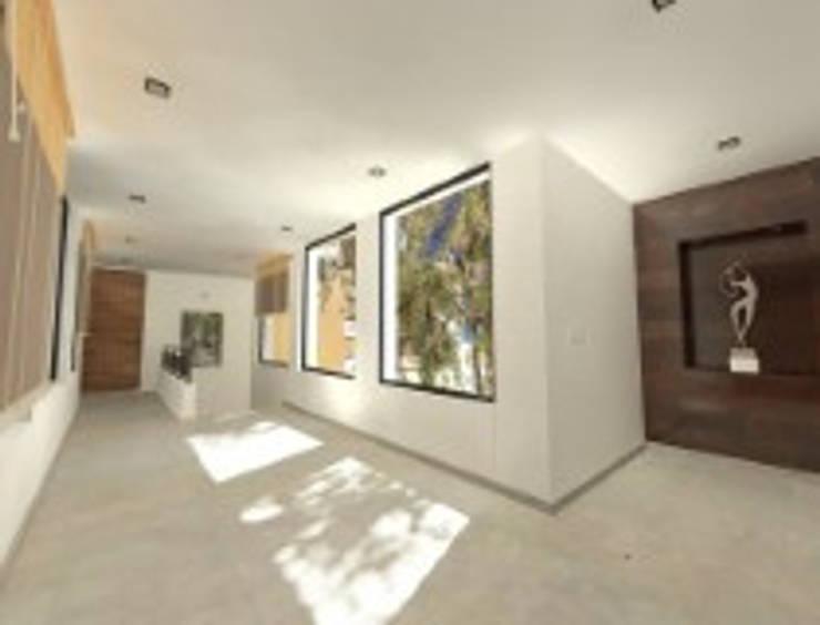 Rancho San Juan Zona Esmeralda: Pasillos y recibidores de estilo  por CESAR MONCADA S