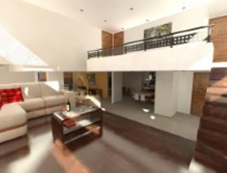 Rancho San Juan Zona Esmeralda: Salas de estilo  por CESAR MONCADA S