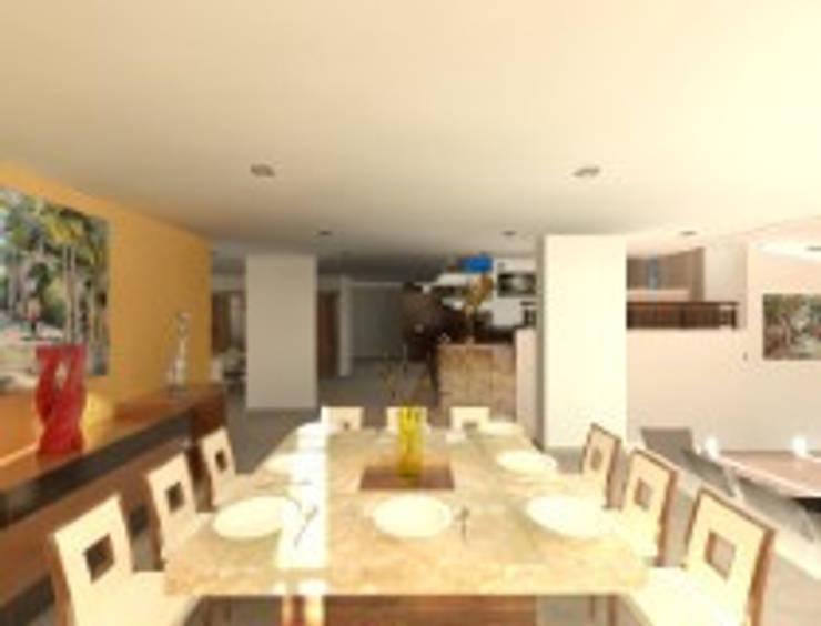 Rancho San Juan Zona Esmeralda: Comedores de estilo  por CESAR MONCADA S