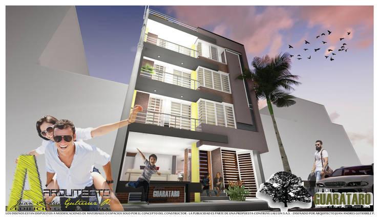 PERSPECTIVA NORTE: Casas de estilo  por ARQUITECTO JUAN ANDRES GUTIERREZ PEREZ