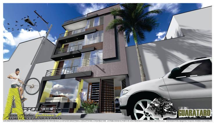 PERSPECTIVA SUR: Casas de estilo  por ARQUITECTO JUAN ANDRES GUTIERREZ PEREZ
