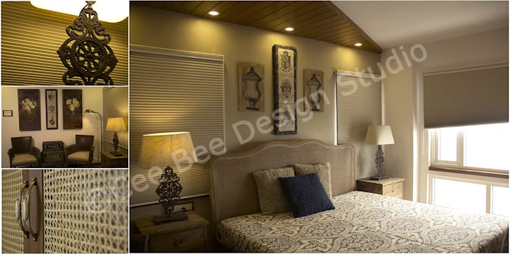 2 BHK Apartment in Kolkata:  Bedroom by Cee Bee Design Studio
