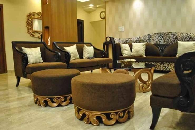 Vikas singh apartment :  Living room by Arturo Interiors