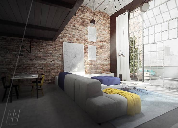 Livings de estilo  por AAW studio