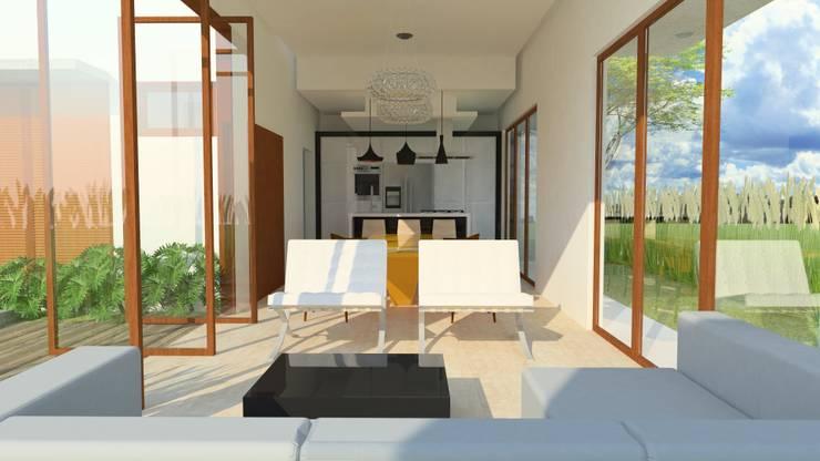 Salas / recibidores de estilo  por Tony Santos Arquitetura, Moderno Mármol