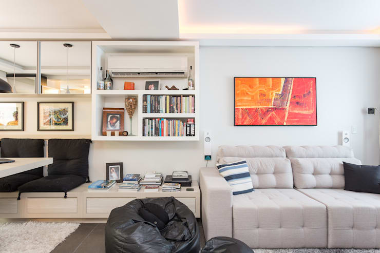 SDV | Estar: Salas de estar  por Kali Arquitetura
