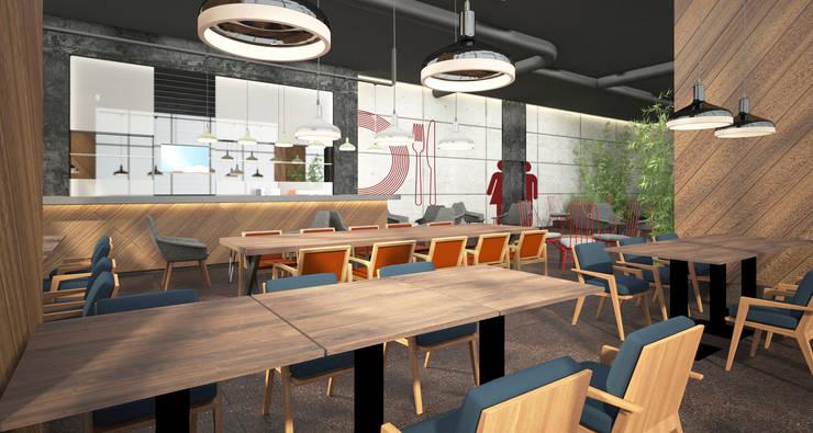 Baki & Başaran İç Mimarlık – TFKB Ofis Binası // Konsept Tasarım:  tarz Ofis Alanları, Modern