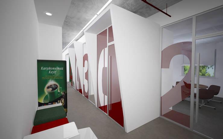 Baki & Başaran İç Mimarlık – Jacobs Ofis // Konsept Tasarım:  tarz Ofis Alanları