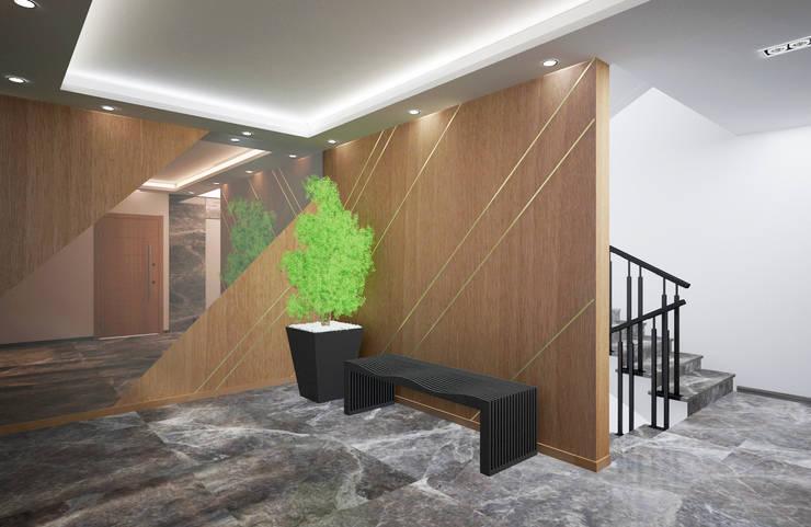 Baki & Başaran İç Mimarlık – Erguvan Apartmanı // Konsept Tasarım + Danışmanlık:  tarz Evler, Modern