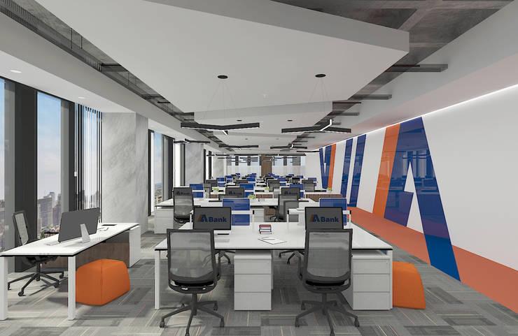 Baki & Başaran İç Mimarlık – ABANK Ofis // Konsept Tasarım:  tarz Ofis Alanları