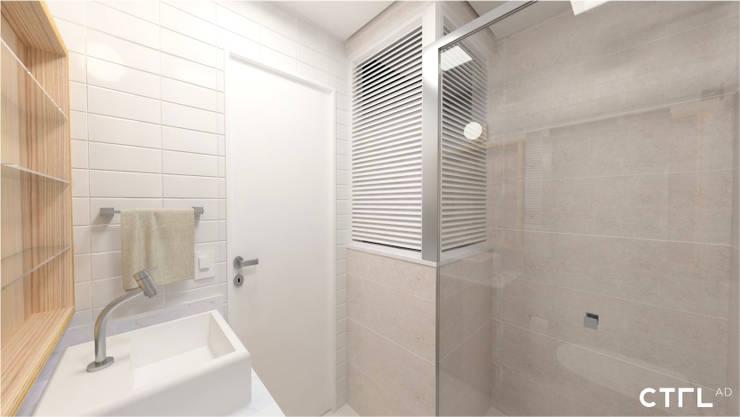 Área de Banho: Banheiros modernos por CTRL | arquitetura e design