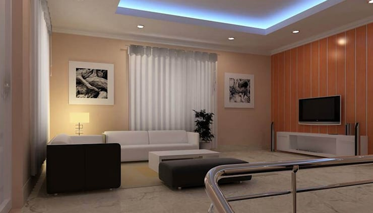 Hall Area:  Living room by Anmol Decore,Classic Plywood