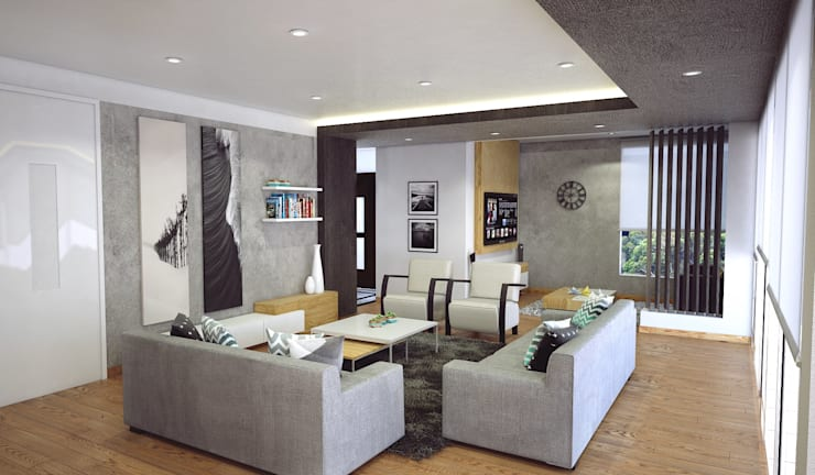 Bessie II : Salas / recibidores de estilo  por Kuro Design Studio