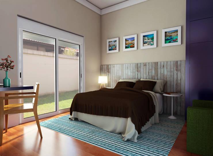 غرفة نوم تنفيذ canatelli arquitetura e design