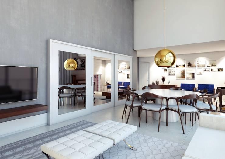 غرفة السفرة تنفيذ canatelli arquitetura e design