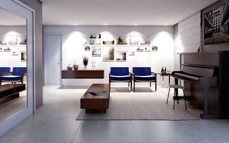 غرفة المعيشة تنفيذ canatelli arquitetura e design