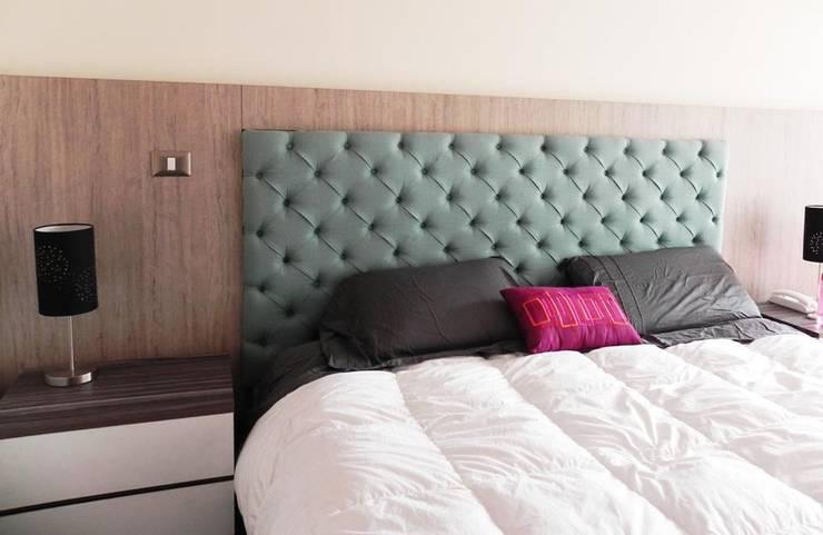 Proyecto General Ludwig: Dormitorios de estilo  por Más Identidad Diseño