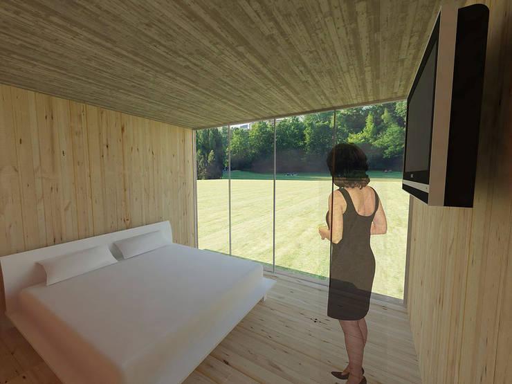 Casa 0: Dormitorios de estilo  por Voavista
