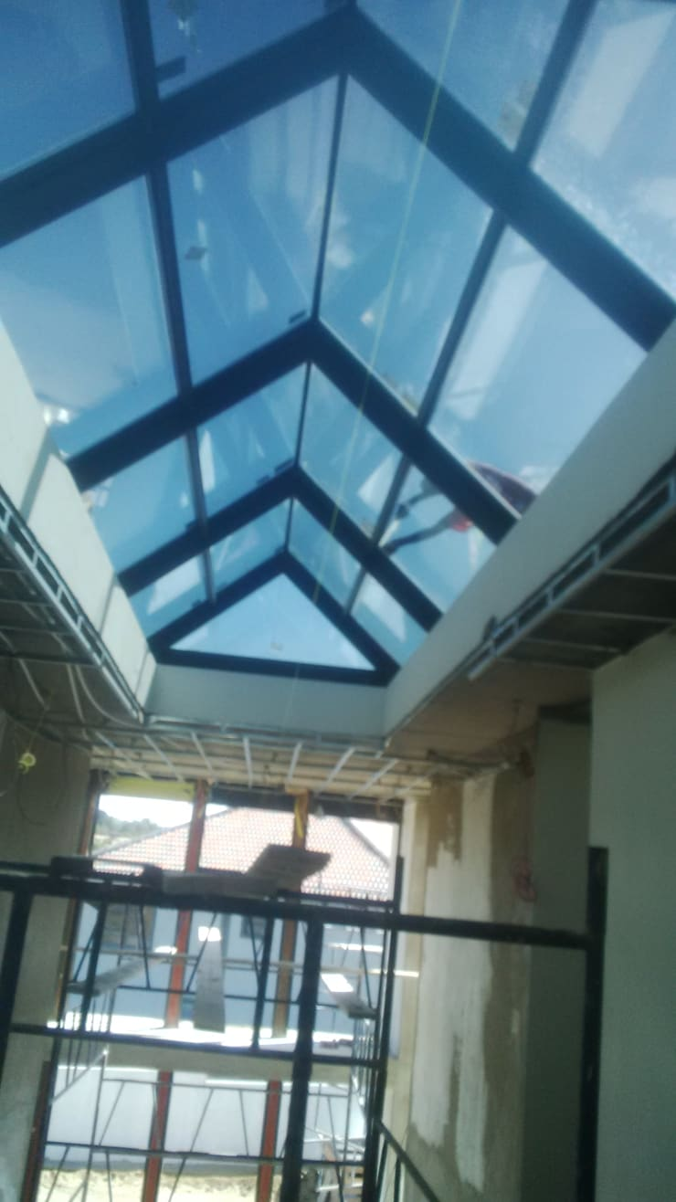 Our range of doors,windows,mirrors,showers,splash backs , etc.......:  Houses by Tech Glass and Aluminium, Modern Glass