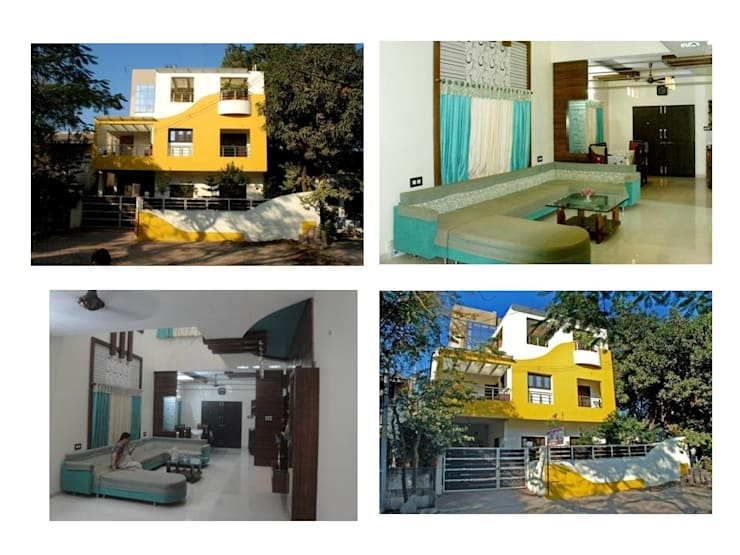 shrimal bungalow:  Houses by Gupta's associated architects