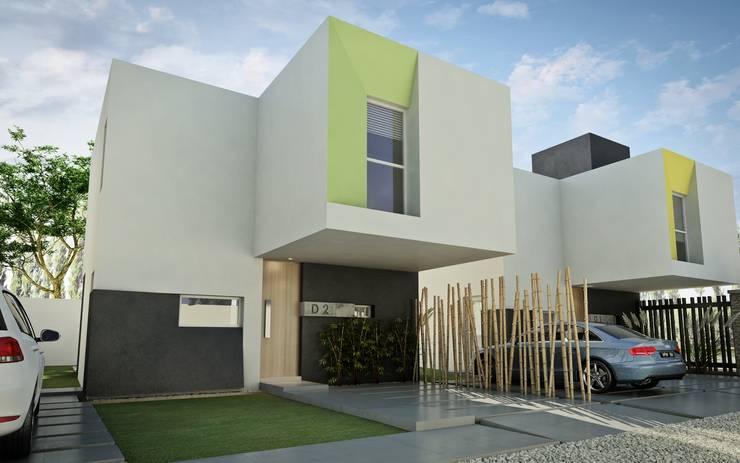 Desarrollo en Lino Limay, Neuquen Capital, Patagonia: Casas de estilo  por Chazarreta-Tohus-Almendra,Minimalista
