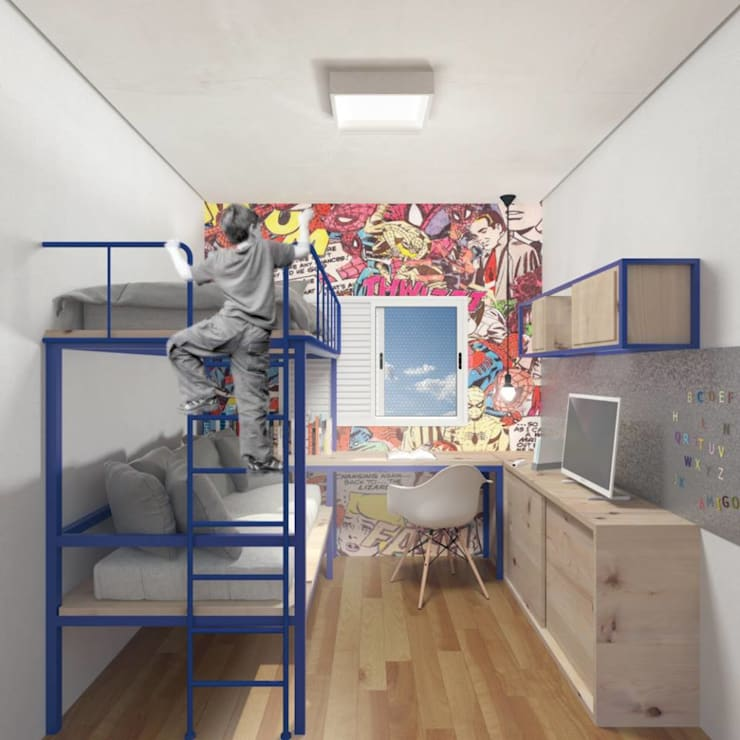 Nursery/kid's room by Ar:Co - Arquitetura Cooperativa