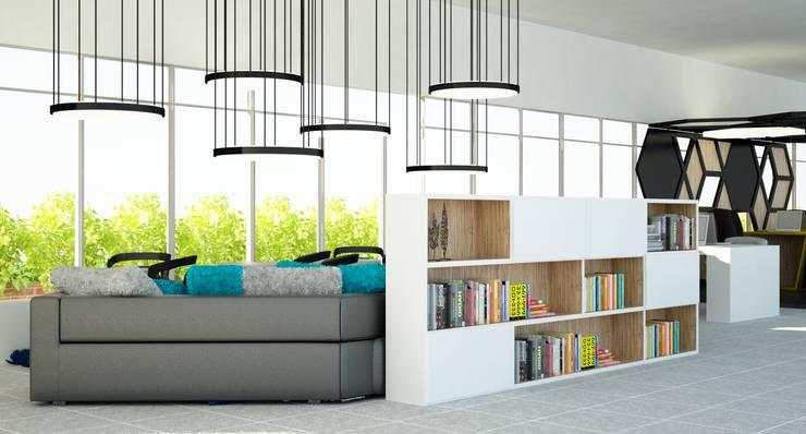OFICINAS PHD de santiago dussan architecture & Interior design Moderno