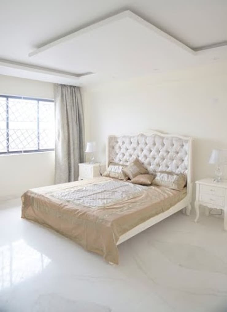 3 BHK Apartment Bengaluru:  Bedroom by Cee Bee Design Studio