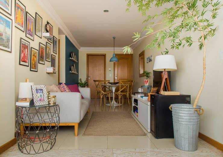 Apartamento NJ: Salas de estar  por MZNO