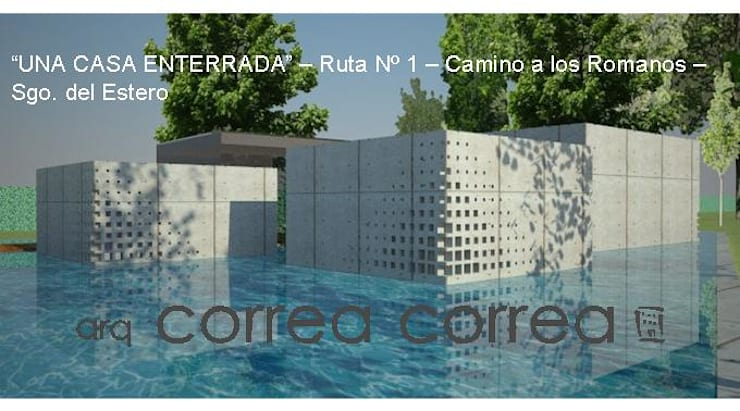 Vivienda enterrada: Casas de estilo  por Arq. Jose F. Correa Correa
